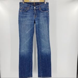 7 for all Mankind boot cut blue jeans